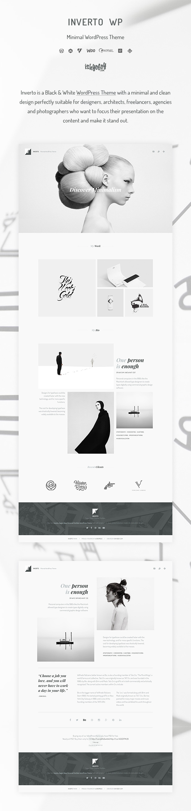 Inverto WP - Minimal WordPress Theme