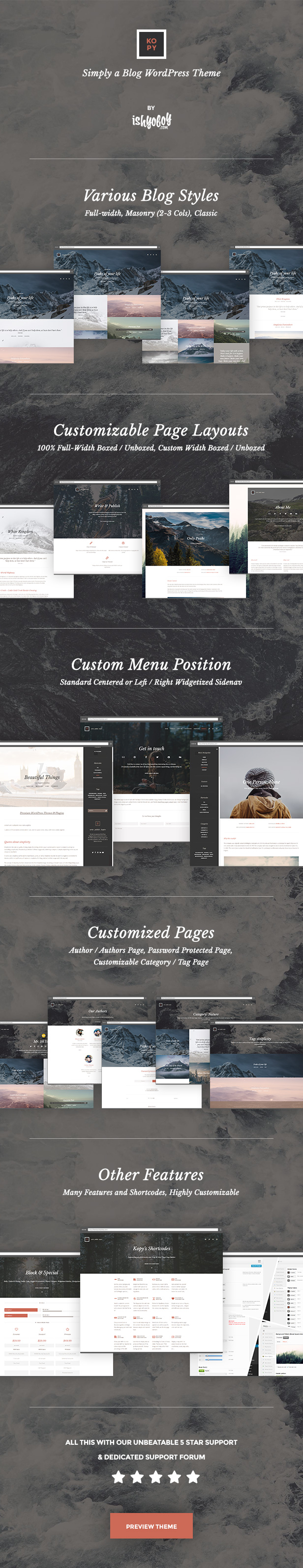 Kopy WP - Simply a Blog WordPress Theme