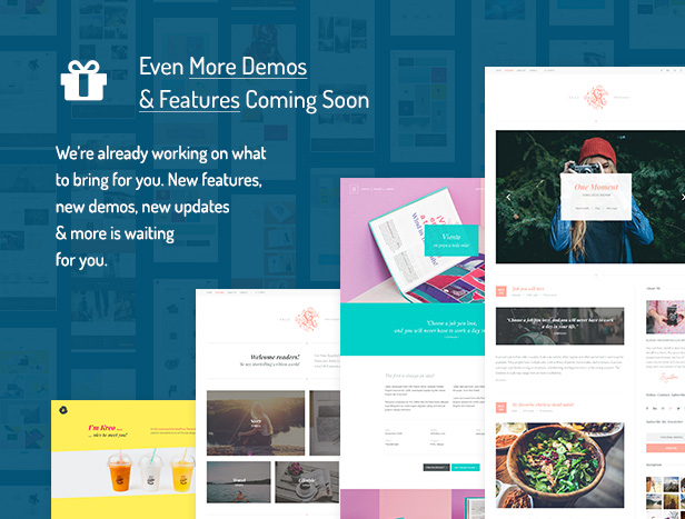 Even More Demos & Features Coming Soon / We're already working on what to bring for you. New features, new demos, new updates & more is waiting for you.