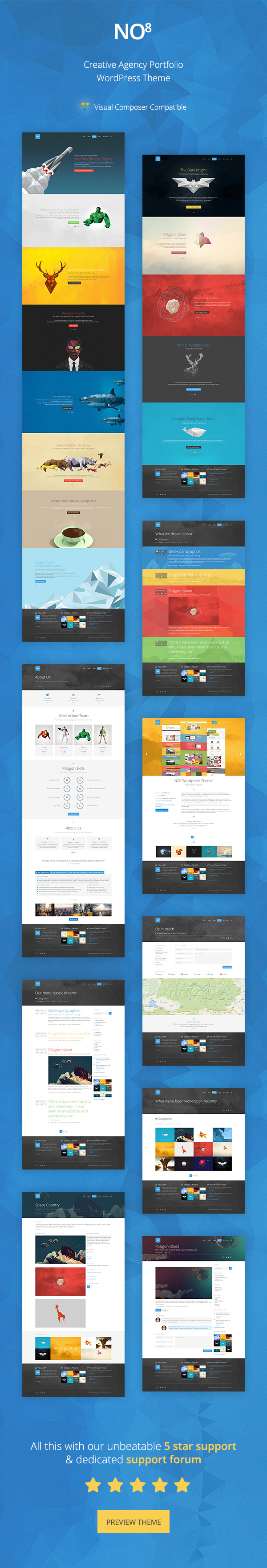 NO8 - Creative Agency Portfolio Theme