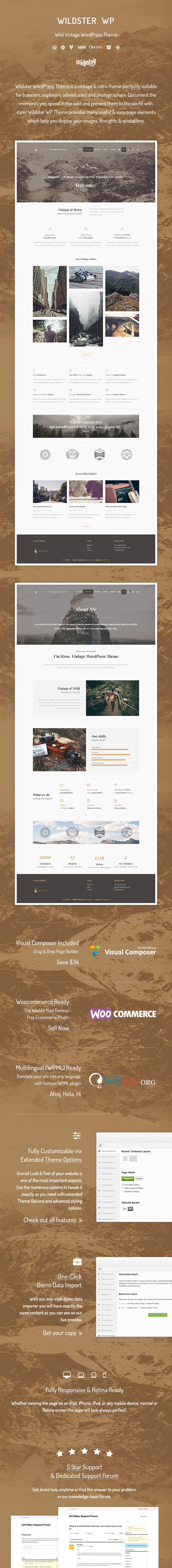 Wildster WP - Wild Vintage WordPress Theme