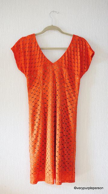 Orange dress - Back